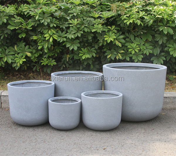 Round Flower fiber clay Pot Outdoor & Indoor Keramische Planter