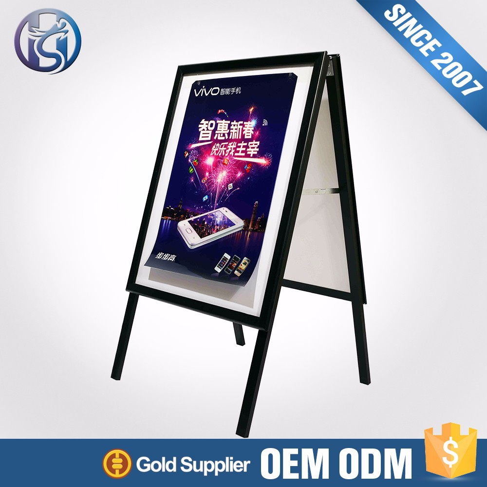 Cheap price outdoor stand poster frame 25mm a sidewalk sign a board