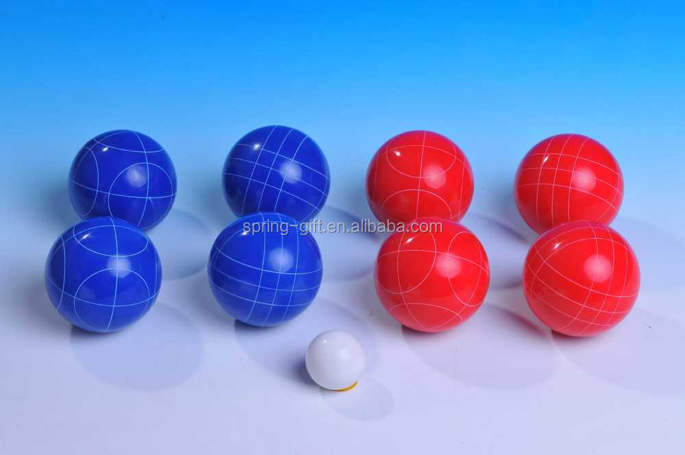High quality resin material sport game bocce ball sets