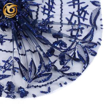 Custom made elegant mesh embroidery tulle polyester microfiber fabric sequin