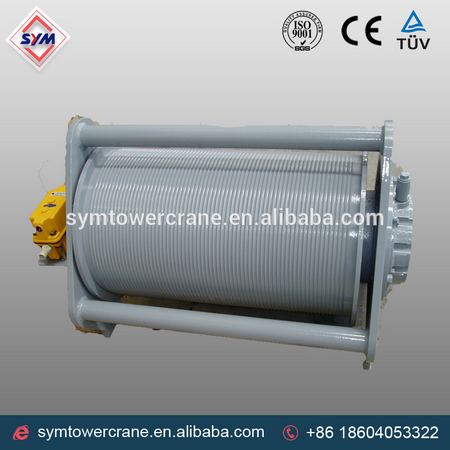 wire rope drum pictures and winch rope drum for tower crane rope winding drum hot sale