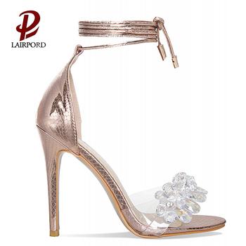 6dc81145645f 2018 new design fashion and beautiful girls high heel sandals serpentine  gold