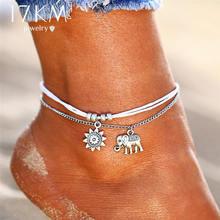 Винтажные Многослойные ножные браслеты для женщин, 17 км, Ретро стиль, веревочный браслет на ногу, Сексапильный пляжный браслет, цепь для ног ...(Китай)