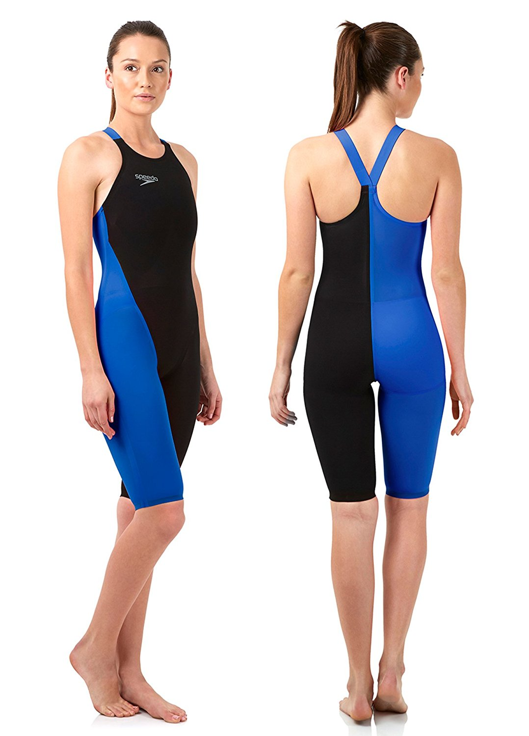 f3d148cf69 Buy Speedo LZR Racer Elite 2 Closedback Kneeskin Black Blue in Cheap ...
