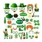 YISHU St.Patrick's Day Photo Booth Props Kit Lucky Irish Day Photo Props Set for DIY Irish Party Accessories