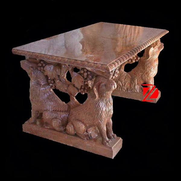 carving marble animal table with sheep statue