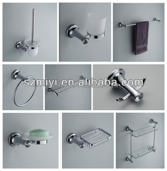 cheap bathroom accessory chrome finished bathroom sets