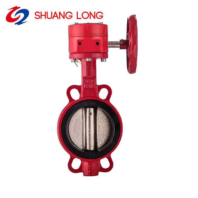 Water Butterfly Valve Double Clip Type for Water Treatment with Hand Wheel