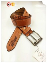 Vintage PU belt wholesale for men with sepcial buckle