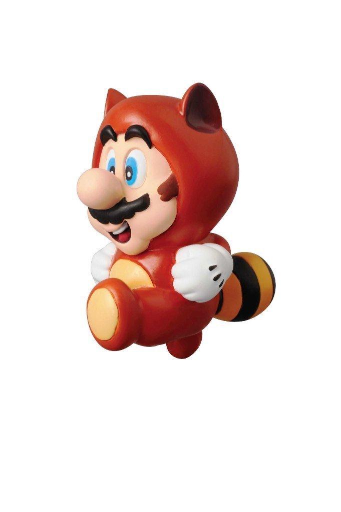 Medicom Nintendo Super Mario Bros. Ultra Detail Figure Series 1: Tanuki Suit Mario UDF Action Figure