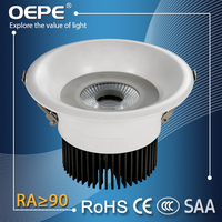 Led downlight set home use ceiling mount lamp 150mm cut out led light cob 15w downlight
