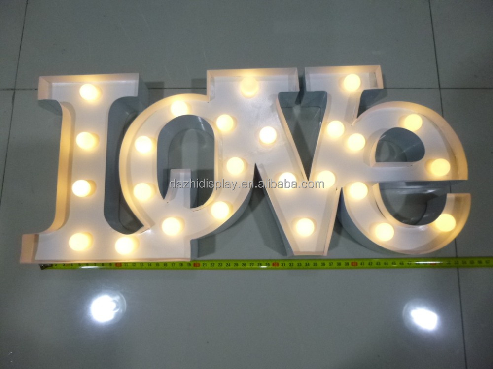 festival Christmas and wedding party marquee LED light letter frontlit Illuminated love letters,outdoor advertising signboard