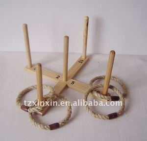 Wooden outdoor Quoit game,ring toss game