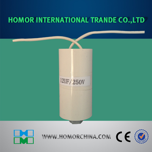 Polypropylene Film Cylinder Shaped CBB60 8uF Motor Running Capacitor US