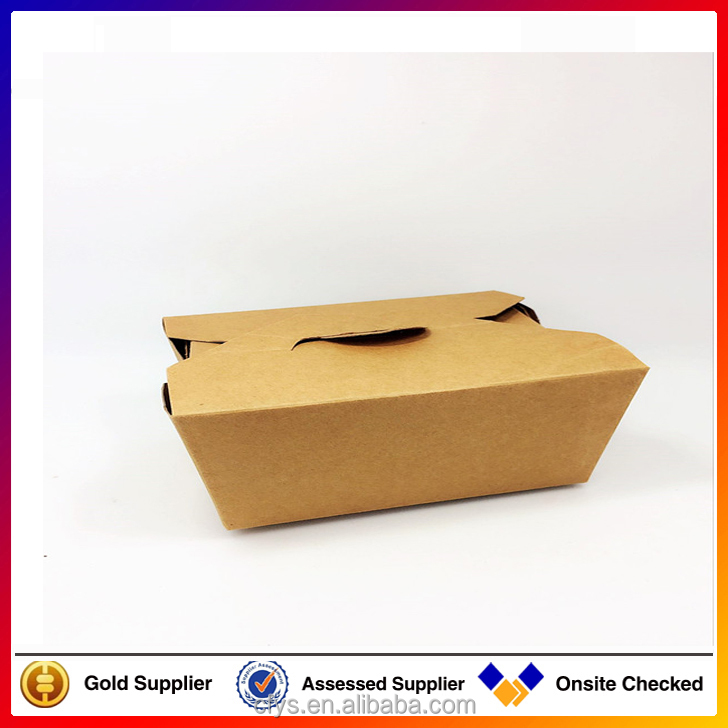 High quality Take away custom square food pail/deli kraft packing much food paper box