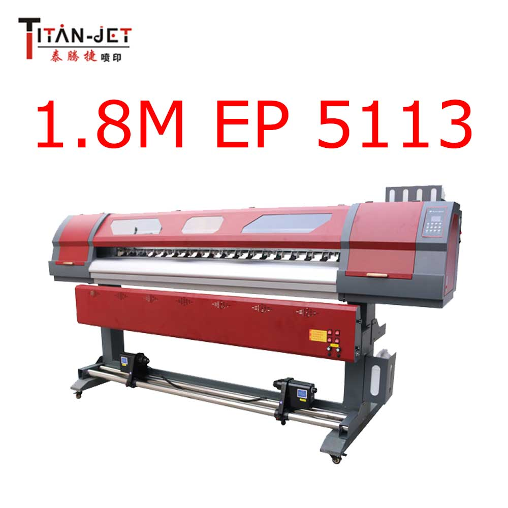 Titanjet 1.8m sublimation banner jet printer with 5113
