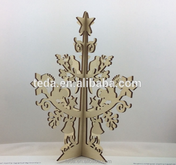 Alibaba hot sale high quality Wooden carving christmas tree from China