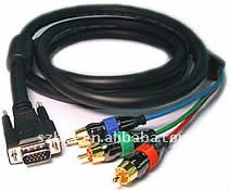 VAG 15p to 3 RCA Splitter cable