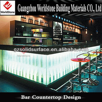 Night Club Used Light Up Bar Counter Table Design
