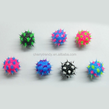 Eco Friendly Spiky Round Rubber Bead Jewellery Making Craft Supplies Beads For Earrings