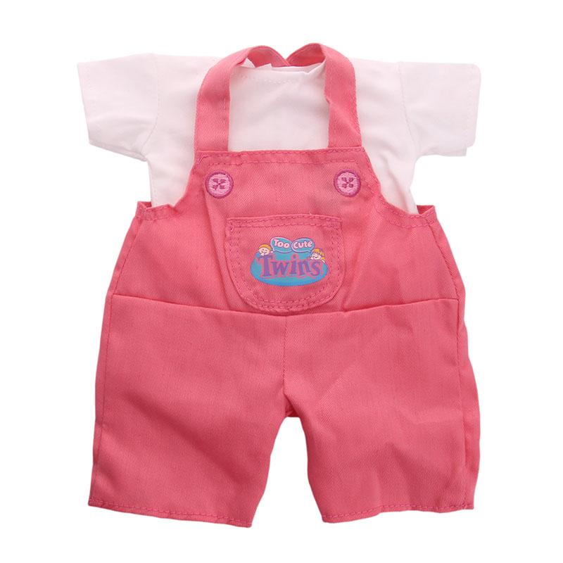 LUCKDOLL брюки на подтяжках + футболка подходит 18 дюймов Американский 43 см детская кукла одежда аксессуары, девочки игрушки, поколение, подарок ...(Китай)