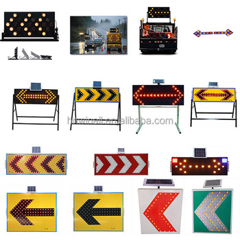 Portable Solar Led Traffic Arrow Signal Light