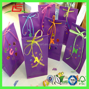 m064 custom cartoon printing party gift bags for kids birthday with