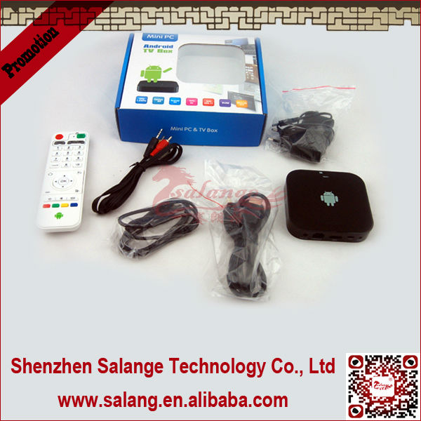 New 2014 made in China AMLogic Dual Core android <strong>tv</strong> <strong>box</strong> with flash player 11 hd video by salange