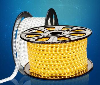 outdoor decoratieve verlichting 220 v 100 m blauw platte led lichtslangflexibele strip licht led