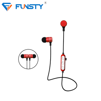 Micro Earphone Wireless In-Ear Mini Earpiece Metal Earbuds Inner Ear Headphones