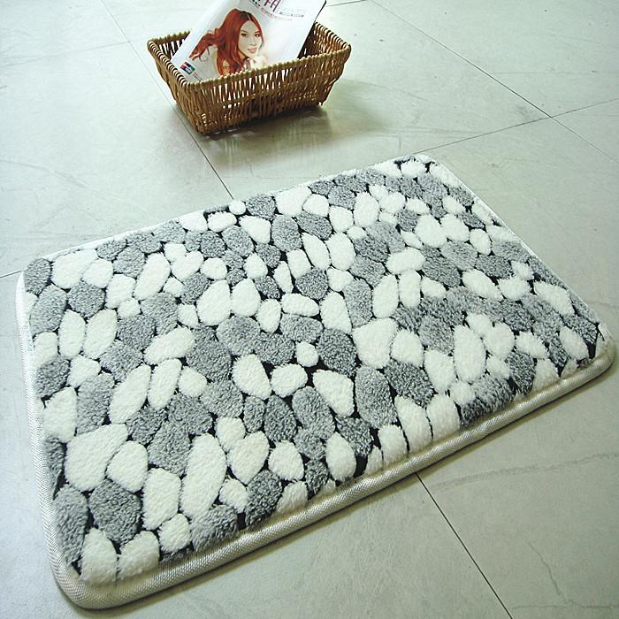 Natural Bathroom Rugs: New Bath Mat Rug Pebbles Natural Coral Fleece Bathroom Mat