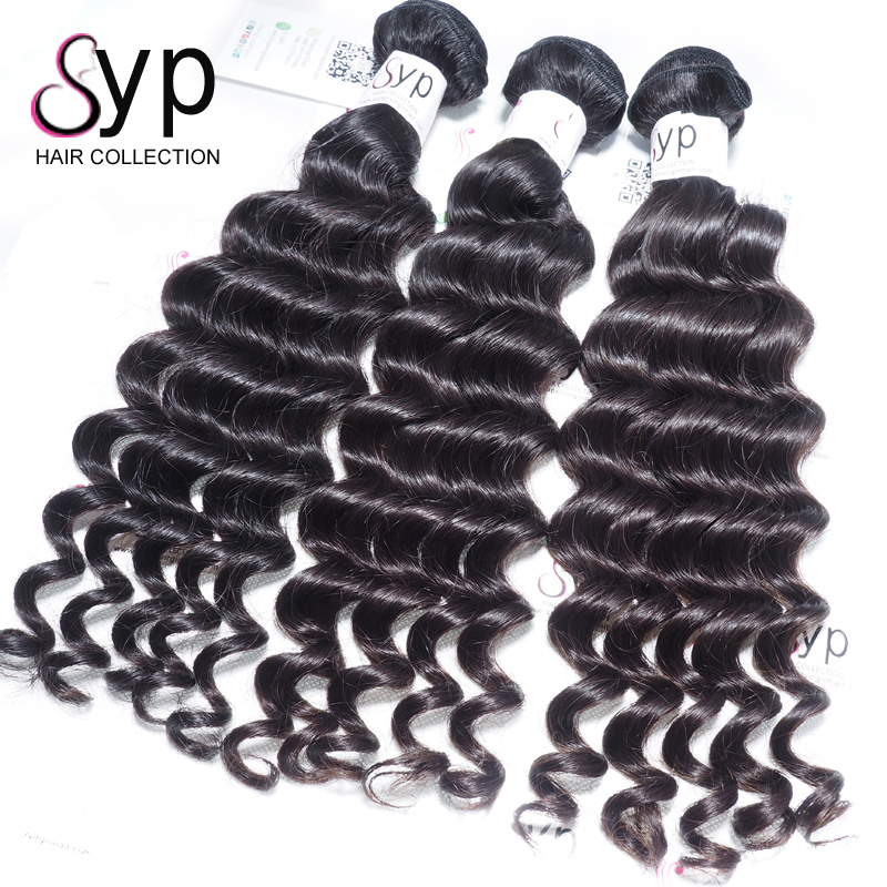 High Quality Mink Brazilian Virgin Human Deep Wave Hair Bundle Deals With 13x4 Lace Frontal Closure