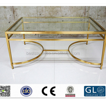 Modern Simple Type Table Basse Design With Stainless Steel Frame And Glass Top Buy Modern Table Basse Relevable Coffer Table Frame Steel Table