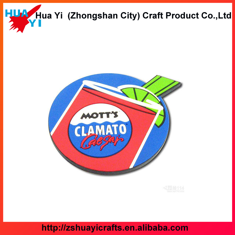 Wholesale Customized Embossed 3D Logo Soft Eco-Friendly Rubber PVC Cup Coaster-HuaYi Crafts factory