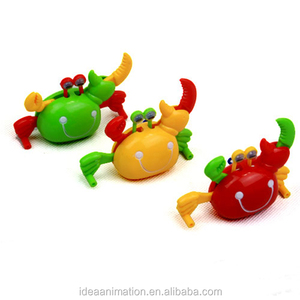 OEM plastic cartoon crab figure walking pvc high quality crab toy for kids