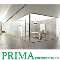 Guangzhou office cubicles glass office dividers room partitions exterior glass walls