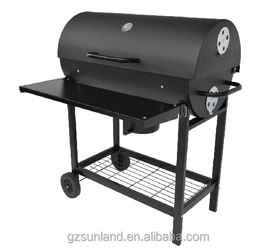 oil drum charcoal BBQ grill
