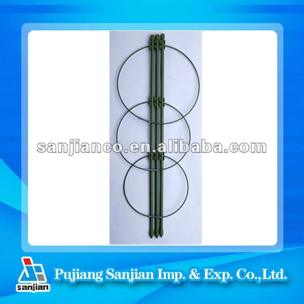 plastic /iron plant support /tomato ring planter support
