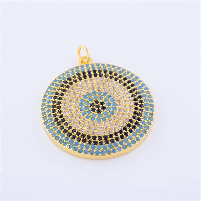 2017 New Design Turkey Colorful Zircon Jewelry Blue Evil Eye Pendant Necklaces