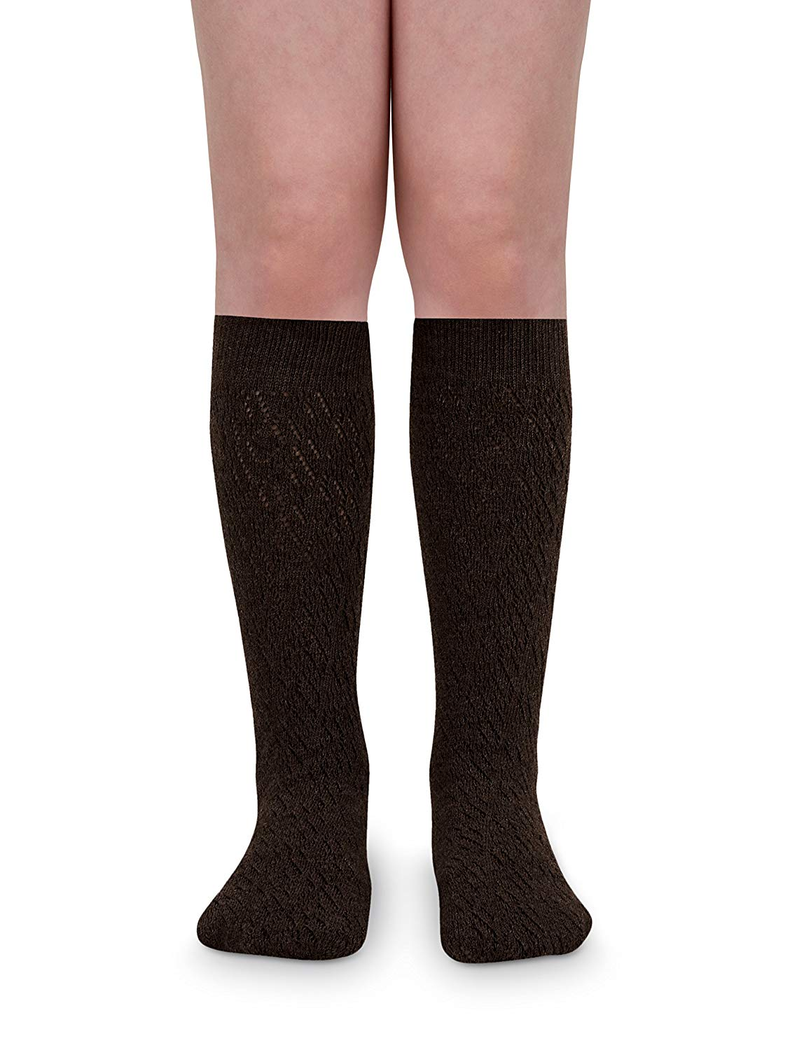 163e9cd0db397 Get Quotations · Jefferies Socks Girls School Uniform Pointelle Design Knee  High Socks 2 Pair Pack