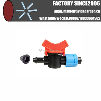 offtake valve with T-shaped Grommet for Drip Tape