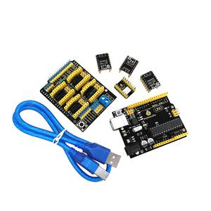 Keyestudio CNC kit for arduinos CNC Shield V3+UNO R3+ 4pcs DRV8825 driver  /GRBL compatible