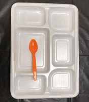 food grade disposable 6 compartment white plate for Australia market