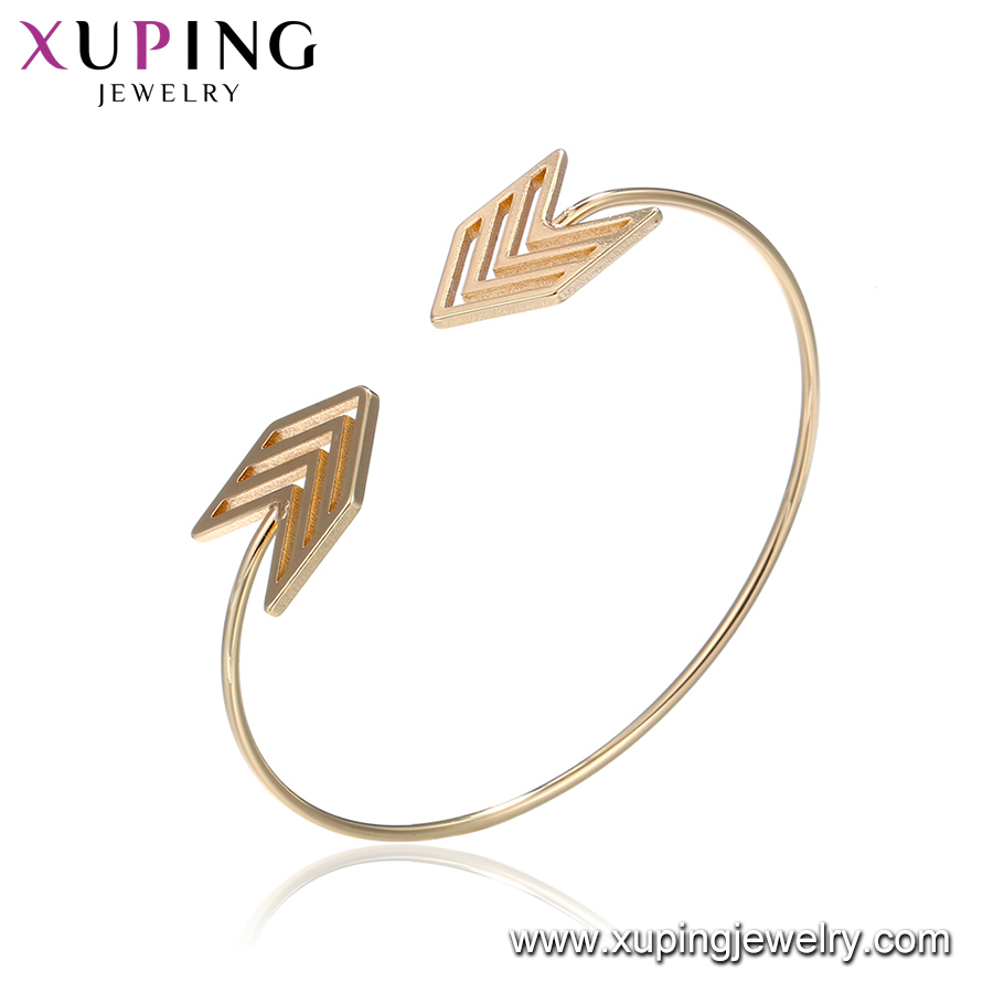 51860 Fashionable arrow bracelet bangles indian gold plated women bangle