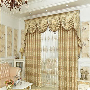 Beautiful Turkish Sun Shade Luxury Textile Design Curtains For Living Room