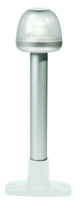 "HELLA 959910111 '9910' Series NaviLED 360 Multivolt White 9-33V DC 2 NM All-Round LED Light with White 8"" Fixed Mount Base"