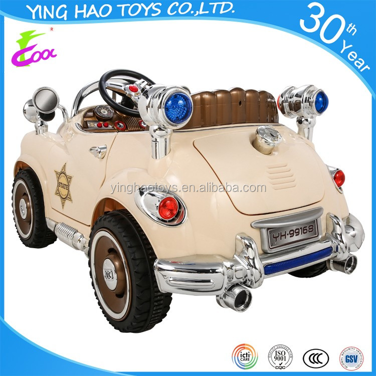Battery Operated Ride On Police Toy Car For Kids 6V RC Control Ride On Car