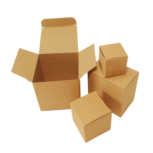 spot wholesale kraft boxes for gift packing universal packing box Custom Natural Flat Brown Kraft Paper Packaging Box for Gift