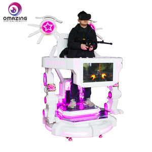 OMAZING VR Theme park equipment virtual reality shooting , vr running games simulation rides