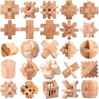 Oray Wooden Toys Intelligence Magic Wooden Cube Puzzle Luban Lock China Brain Teaser Puzzle Educational Toys for Children